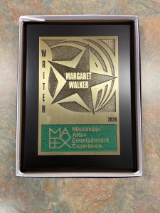 An up close look Margaret Walker's MAX award for her distinguished contributions as an author and poet. (Photo special to JSU)