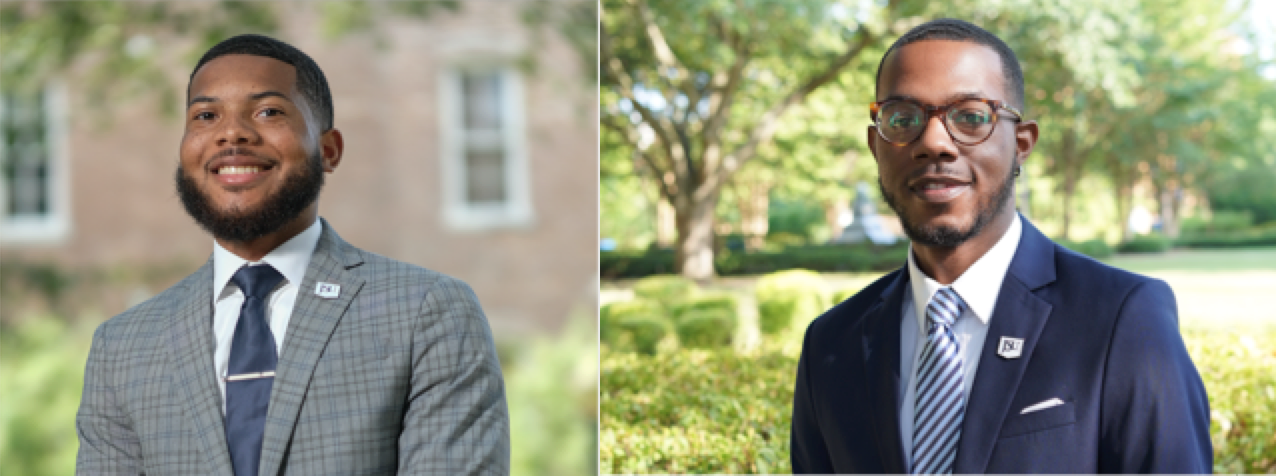 Jacori Daniels, SGA President, (left) and Justin Standifer, president of the College Activities Board, both agree that the townhalls serve to ensure the success of their peers and the university. (Photos by Charles A. Smith/JSU)