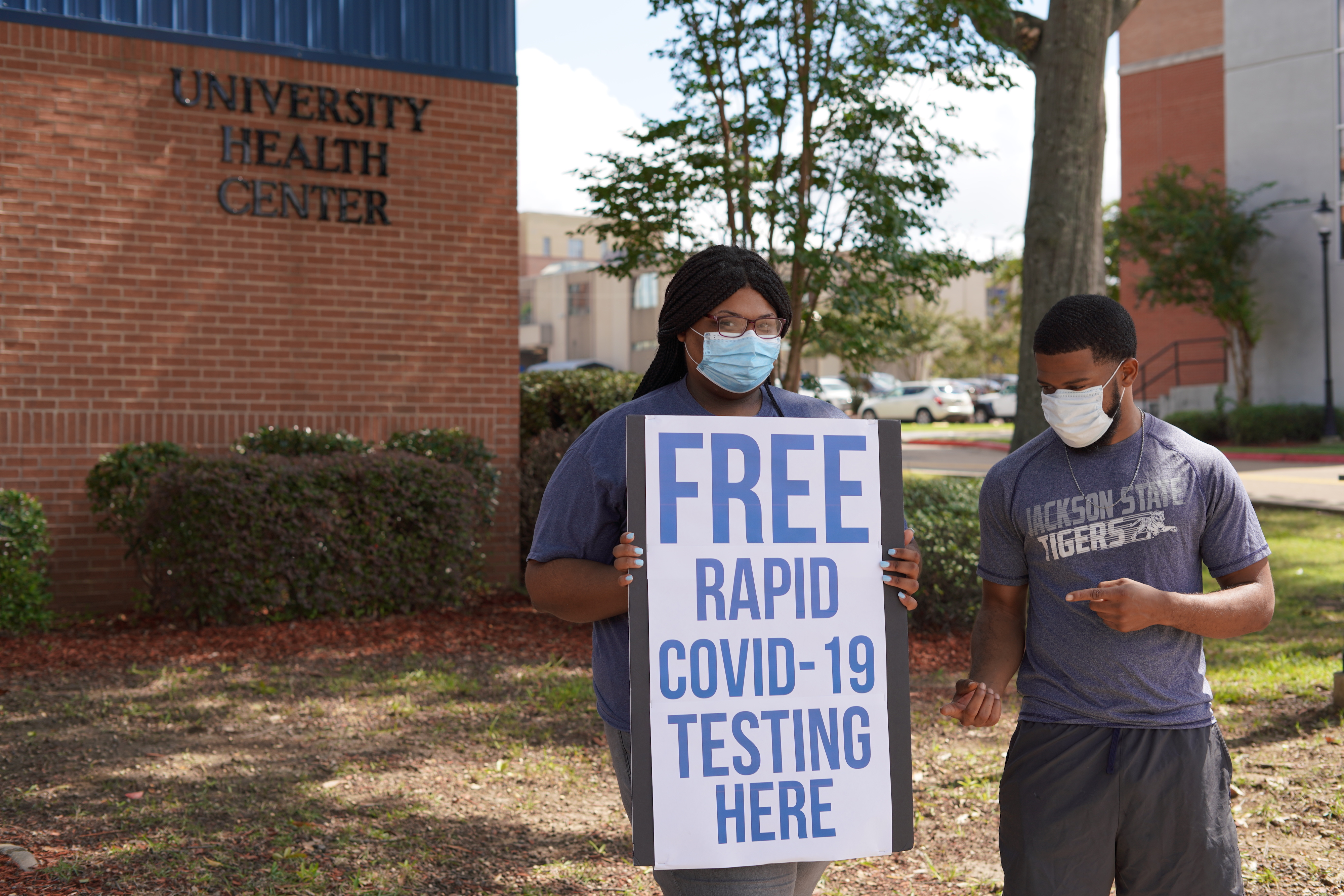 Free rapid testing was available for students as they registered. (Photo courtesy of Division of Student Affairs)