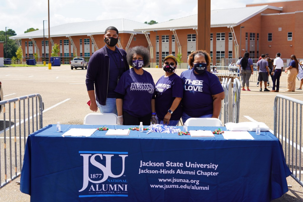 JSU alumni also supported the drive to register young adults. (Photo courtesy of Division of Student Affairs)