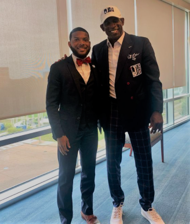 """Daniel said he expects the acquisition of Coach Prime (Deion Sanders) will help """"boost student morale and give everyone something to look forward to in the spring."""" (Photo special to University Communications)"""
