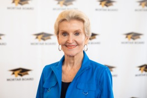 Local Jackson philanthropist and business leader, Janet Griffin Farrington, initiated into Mortar Board at the University of Mississippi, is also a part of the alumni team that is working with this collegiate chapter.