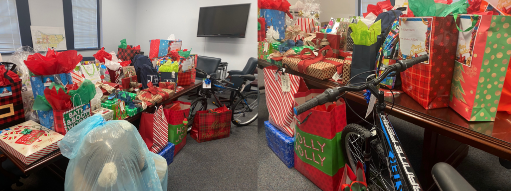 Gifts donated from JSU employees and other entities in the Jackson community.