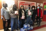 As a safety measure, water fountains are not accessible in schools due to the pandemic. To demonstrate kindness, the JSU Undergraduate NSSLHA donated 624 bottles of water for students at Barack H. Obama Magnet School and Spann Elementary.(Photo special to JSU)