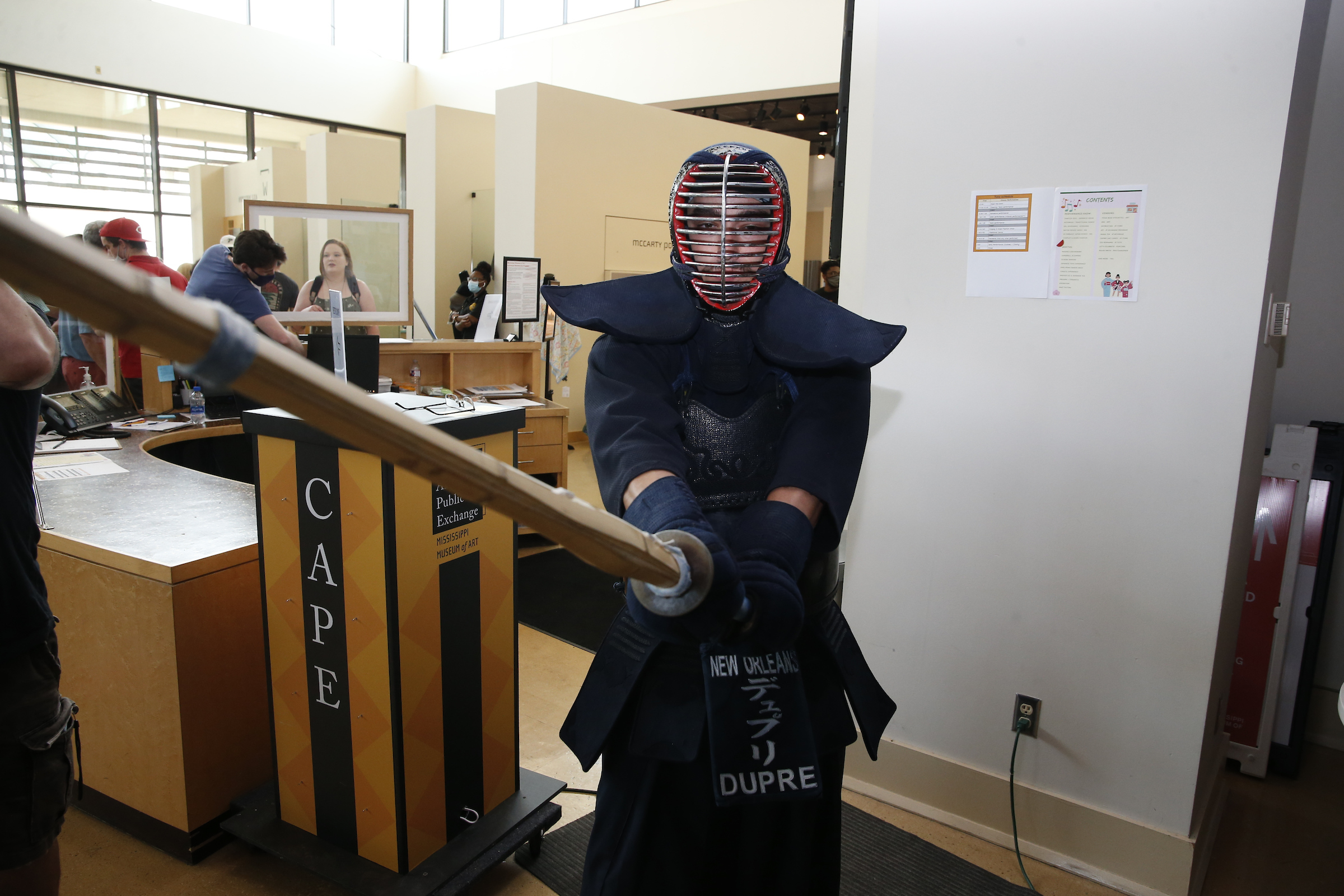 Festival attendees were treated to a variety of Japanese performances, including Kendo, a modern Japanese martial arts. (Photo by Aron Smith)