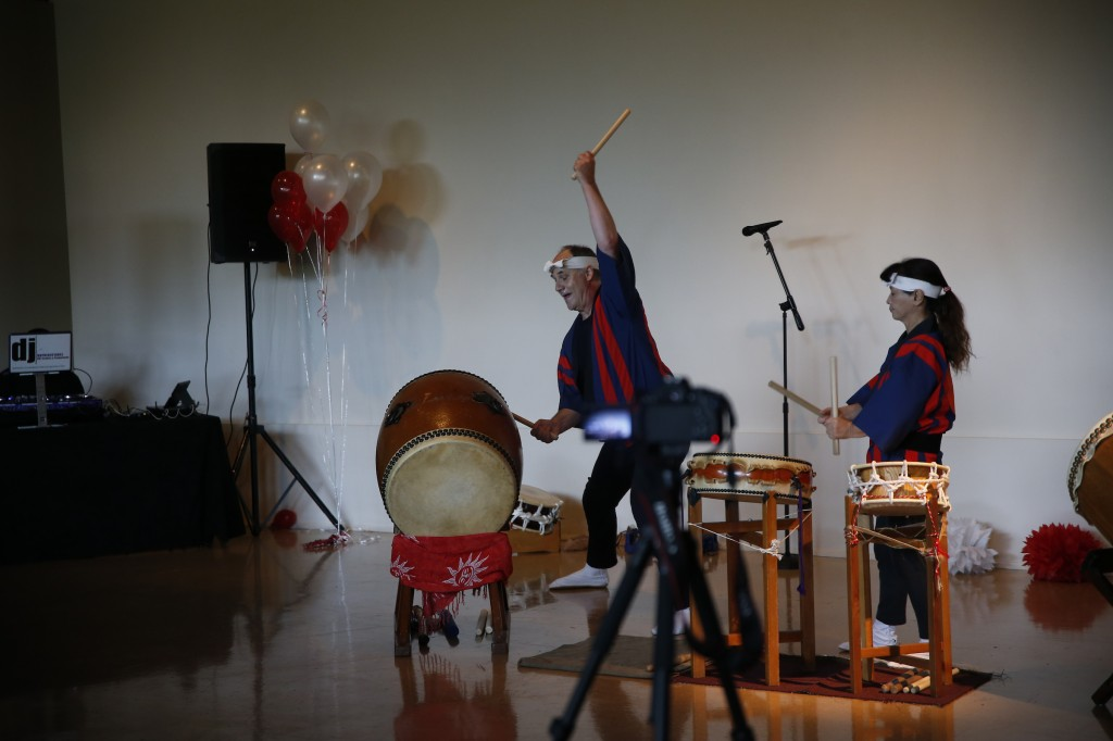 Taiko performers show off their skills for the festival audience. (Photo by Aron Smith)