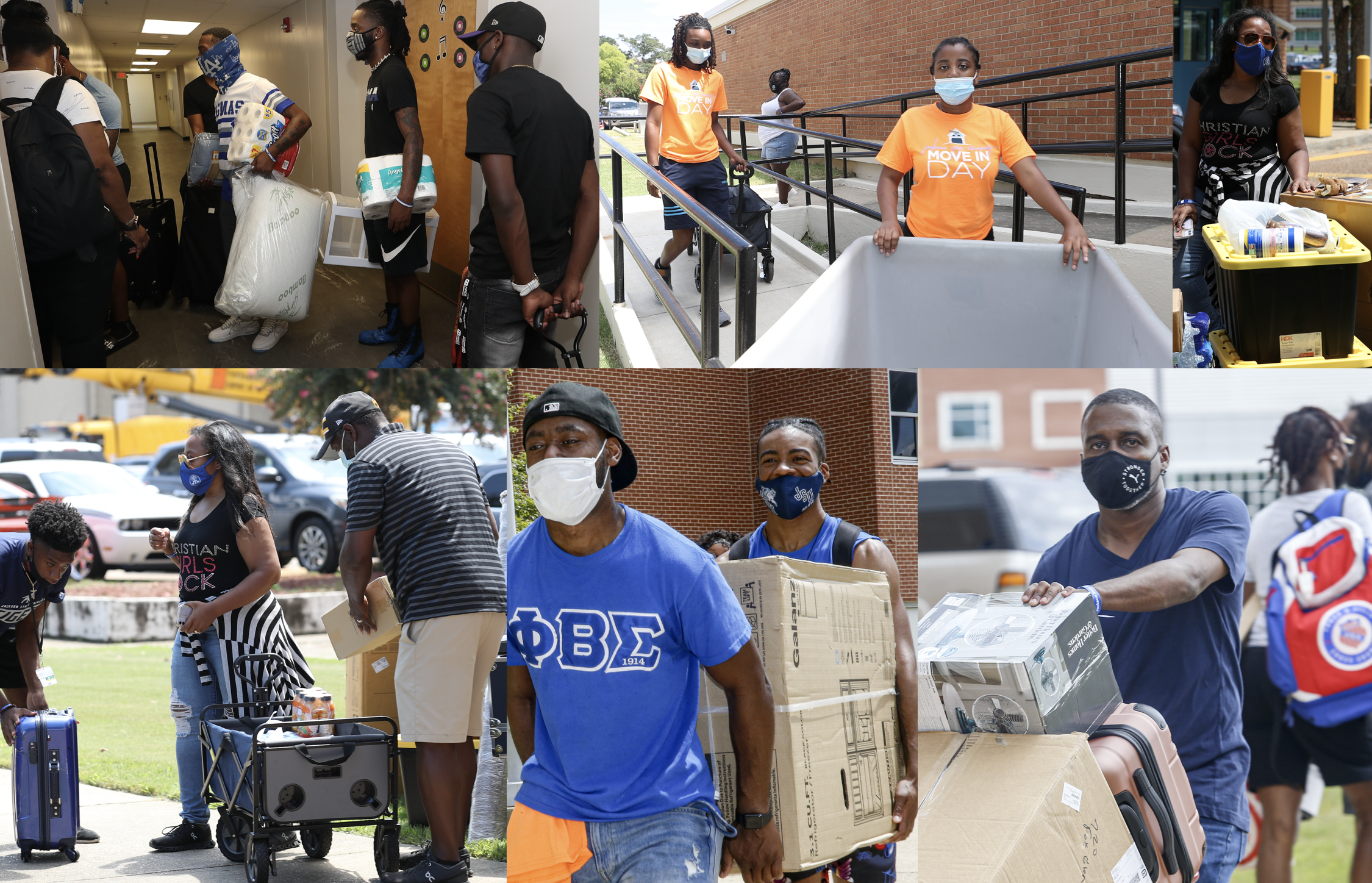 JSU's 2021 Move-in Day was a huge success. Student volunteers, new incoming students, parents and university staff worked collaboratively to ensure the process was smooth and safe for everyone. (Photos by Aaron Smith/JSU)